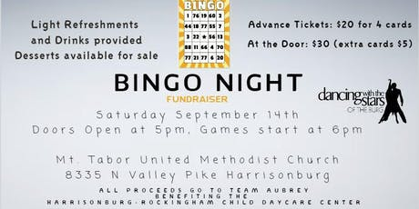 Bingo for Team Aubrey, Dancing with the Stars of the 'Burg tickets