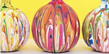 Paper Mache Pumpkins and Pour Painting tickets