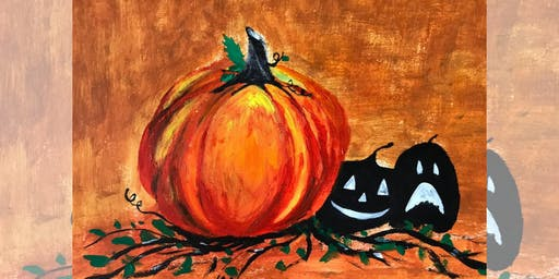 Brew N Brush: Jack o'-lantern