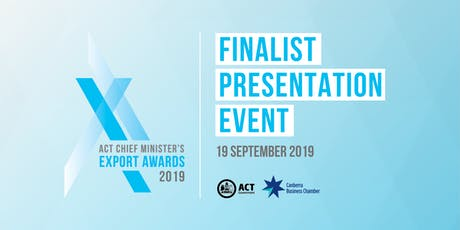 2019 Chief Minister's Export Awards - Finalists Cocktail Event tickets
