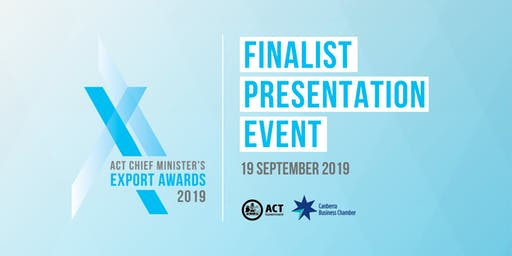 2019 Chief Minister's Export Awards - Finalists Cocktail Event