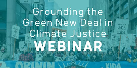 Grounding the Green New Deal in Climate Justice: Toronto Watch Party tickets