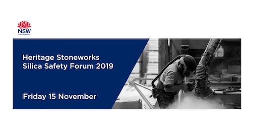 Heritage Stoneworks Silica Safety Forum 2019