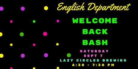 OU English Department Welcome Back Bash tickets