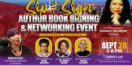 Sip and Sign Author Networking and Book Signing Event tickets