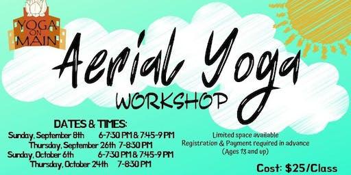 Aerial Yoga Workshop Sept. 26th