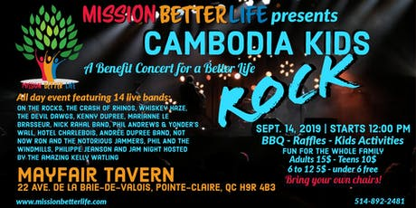 Cambodia Kids Rock - A Benefit Concert for a Better Life tickets