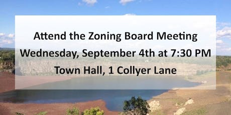 Sept. 4th Meeting-Millington Quarry to be Subdivided! tickets