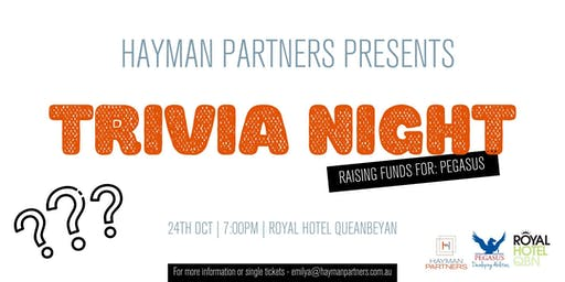 Hayman Partners Charity Trivia Night