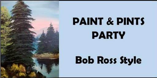 Paint & Pints Party - Bob Ross Style