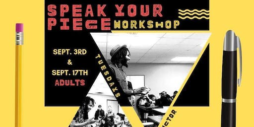 Speak Your Piece #WorkshopSeries