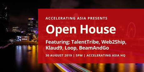 Accelerating Asia Open House 30 August tickets