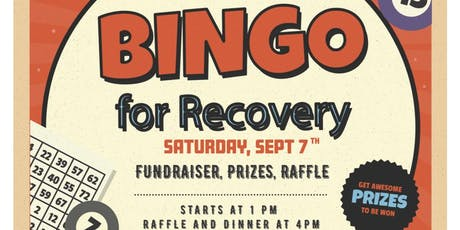 Bingo for Recovery tickets