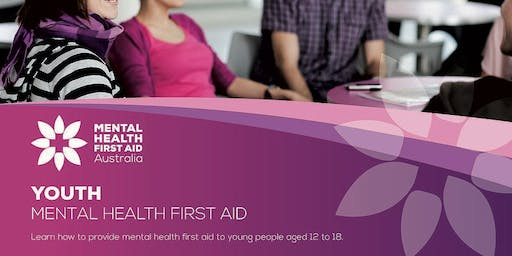 Youth Mental Health First Aid (2-day course) 14 & 21 October 2019