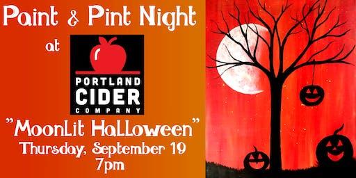 Paint & Pint 'Moonlit Halloween' at Portland Cider Co September 19