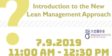 Introduction to the New Lean Management Approach Seminar tickets