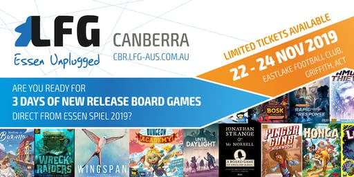 LFG Canberra: Essen Unplugged 2019