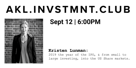 Kristen Lunman: 2019 the year of the IPO. tickets