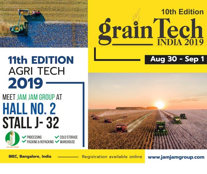 Grain Tech India 2019 | Jam Jam Group Tickets, Fri, Aug 30