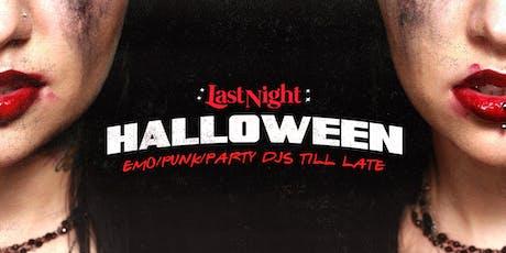 Last Night Halloween tickets
