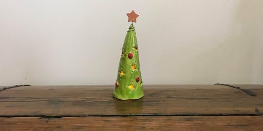 Introduction to hand built pottery - Tealight Christmas Tree