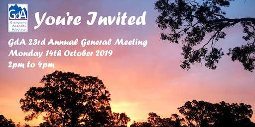 Grampians disAbility Adovacy's 23rd Annual General Meeting
