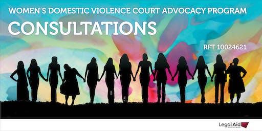 Women's Domestic Violence Court Advocacy Program Consultations - Newcastle