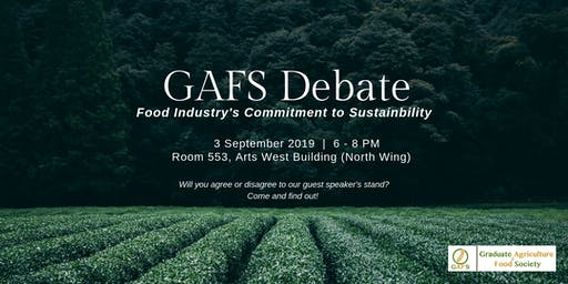 GAFS Debate - Food Industry's Commitment to Sustainability