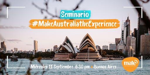 Seminario MakeAustraliatheExperience Buenos Aires