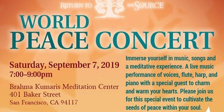 World Peace Concert: Return To The Source tickets