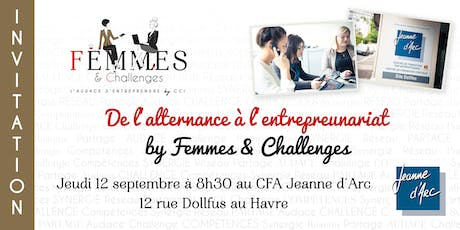 De l'alternance à l'entrepreneuriat by Femmes & Challenges tickets