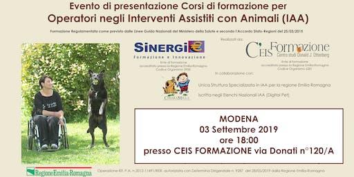 Presentazione corsi di formazione IAA (Pet Therapy)