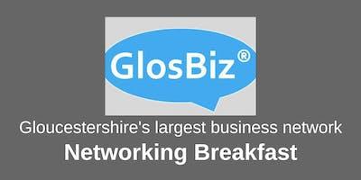GlosBiz® Networking Breakfast: Wednesday 9 October, 2019. 7.30-9.15am. Ellenborough Park, Cheltenham