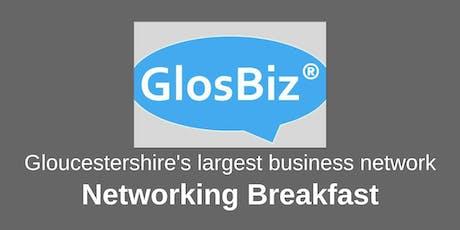 GlosBiz® Networking Breakfast: Wednesday 9 October, 2019. 7.30-9.15am. Ellenborough Park, Cheltenham tickets