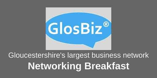 GlosBiz® Networking Breakfast: Wednesday 9 October, 2019. 7.30-9.15am. Ellenborough Park, Cheltenham
