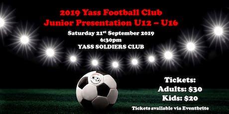Yass Football Club Junior Presentation 2019 tickets