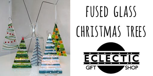 Create Two Fused Glass Christmas Tree Decorations (Adults)