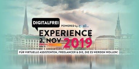 DIGITALFREI Experience für VAs, Freelancer & die, die es werden wollen! Tickets