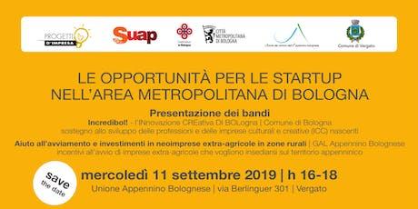 Le opportunità per le startup nell'area metropolitana di Bologna  biglietti