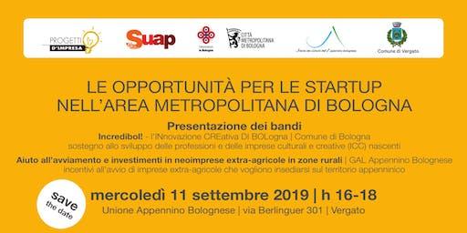 Le opportunità per le startup nell'area metropolitana di Bologna
