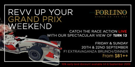 F1 Fever at Forlino - Rev up your Grand Prix weekend! tickets