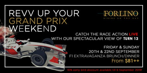 F1 Fever at Forlino - Rev up your Grand Prix weekend!