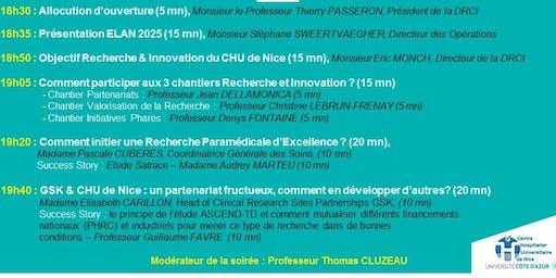 3ème Soirée RECHERCHE & INNOVATION en santé du CHU de Nice