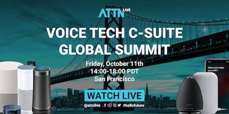 Voice Tech C-suite Global Summit tickets