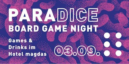 Paradice Board Game Night - Games & Drinks im Hote