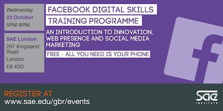 SAE London: Facebook Digital Skills Training - innovation, web presence and social media marketing tickets