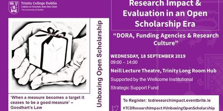 Research Impact & Evaluation in the Open Scholarship Era tickets
