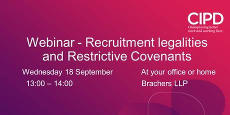 Webinar - Recruitment legalities and Restrictive Covenants tickets
