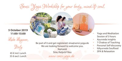 Sensi Yoga ItAyurveda Workshop 5 October 2019