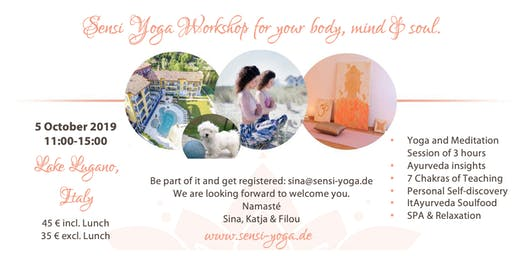 Sensi Yoga ItAyurveda Workshop 5 October 2019